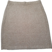 St. John Collection by Marie Gray Women's Mini Pencil Skirt Knitted Tan Size 4