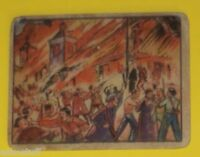 Horrors of War #42 Mob Burns Madrid Cathedral 1938 Trading Card SEE!