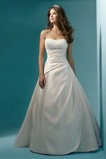 White Satin Wedding Dress Size 8 UK Seller