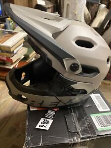 Bell Super Dh Helmet Large Matte Gloss Sand Black Bmx Bicycle Cycling
