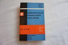 1967 Swiss Railway Timetable with Maps Switzerland Suisse Zurich