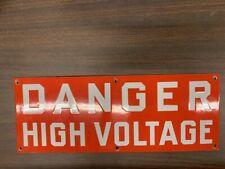 Porcelain Danger High Voltage Sign