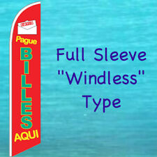 New listing Pague Billes Aqui Windless Banner Flag Tall Advertising Sign Feather Swooper