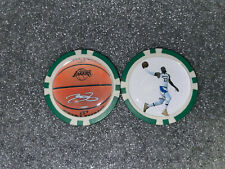 LEBRON JAMES - POKER CHIP - BALL MARKER  *SIGNED*  ***LOS ANGELES LAKERS***
