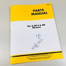 Parts Manual Catalog For John Deere 8 8w 9 9w Power Mower Sickle Bar Hay Book