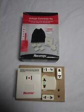 Recoton Voltage Converter Kit 1600 Watts Travel