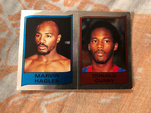 1987 Supersport Panini Foil Marvin Hagler Curry Boxing Sticker Card