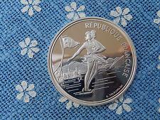 100 Francs 1989 Frankreich Silber PP Eistanz 1992 Alberville