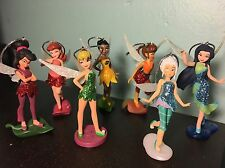Disney Fairies Tinker Bell Christmas Ornament Set 7 Pc NEW