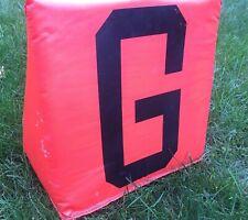 """Heavy Duty 2lb, 13"""" Football Goal (G) LineMarker- Orange Weighted *Football Fan*"""