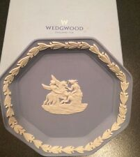WEDGEWOOD white on blue Octagon Tray  #7548