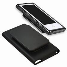 TPU Rubber Case Cover Skin w/Sport Belt Clip for Apple iPod Nano 7th Gen 7 7G BK