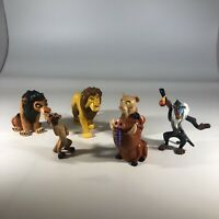 Disney The Lion King Lot of 6 Figurines Vintage 1990s Mufasa Scar Pumbaa Timon