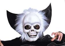 Spaventosa scheletro faccia maschera con Colletto & Mantello TESCHIO HALLOWEEN FANCY DRESS