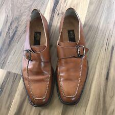 Sutor Mantellassi Men's Leather Oreste Master Monk Strap Dress Shoes Size 8