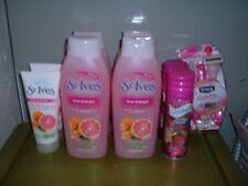 St Ives Even Bright Body Wash & Cleanser Skintimate Rasberry Gel Schick Quattro
