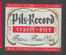 Ancienne étiquette Bière Alcool France  VV11 Bière de basse Mutz