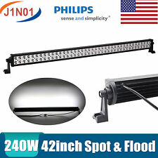 240W 42INCH Philips LED Light Bar SPOT FLOOD Offroad Truck ATV 4WD Boat SUV 50""
