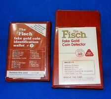 WALLETS 1&2 THE FISCH FAKE GOLD COIN DETECTOR KRUGERRAND US EAGLE PESO