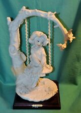 Florence by Giuseppe Armani - Little Girl on Tree Swing Figurine ~ Capodimonte