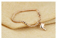 sale! Rose Gold Cute Dolphin Charm Beads Chain Bracelet