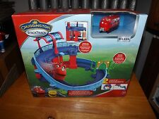 CHUGGINGTON STACKTRACK, CHECKERED STATION SET WITH WILSON, NIB, 2014
