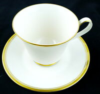 Noritake Viceroy Cup Saucer Set 7222 White Retired