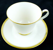 Noritake Cup and Saucer Viceroy Pattern #7222 White Retired