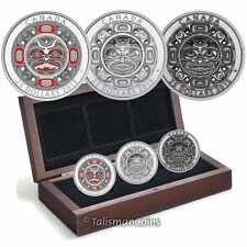 Canada 2015 Native American Singing Moon Mask 3 Coin Set $25 Silver High Relief