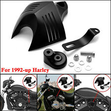 Black Aluminum Twin Cowbell V-Shield Horn Cover for 1992-up Harley Davidson zu