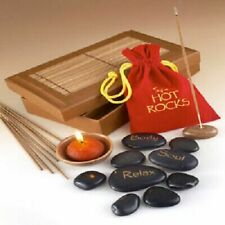 Spa Hot Rocks Scented Candle & Incense Gift Collection Pamper Set Treat yourself