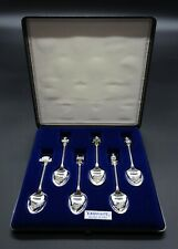 6 BOXED VINTAGE EXQUISITE QEII SILVER JUBILEE 1952-1977 COLLECTORS TEA SPOONS