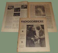 Radiocorriere Anno IX N.13 Radio Trieste teatrino Balilla Scala Guido del Popolo