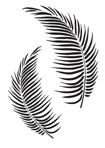 Palm Leaves Stencil