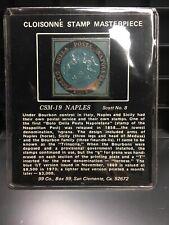 Cloisonne Stamp Masterpiece CSM-19 NAPLES Scott No. 8 BRONZE