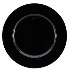 Set of 6 Black Charger Plates Under Plates