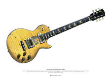 Paul Kossoff's Stripped IoW Gibson Les Paul ART POSTER A2 size
