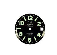 Zifferblatt Ersatzteil f EUFA AUTOMATIC ARMBANDUHR D27,6 old watch dial