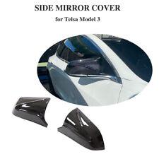 2xCarbon Außenspiegelkappen für Tesla Model 3 2017-20 Spiegelkappen Mirror Cover
