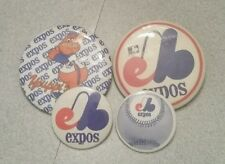 4 vintage Expo pin badge