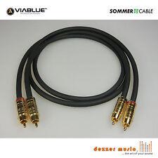2x 1m Cinch-Kabel CARBOKAB VIABLUE Sommer Cable / High End…PROFI PREMIUM KABEL