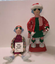 Lot of 2 Hallmark Maxine Dolls Shelf Sitter and Animated Jingle Bell Rock Vgc