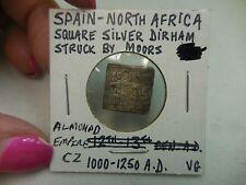 ALMOHAD SQUARE  SILVER DIRHAM  1000-1250 A.D.