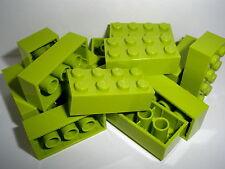 +  LEGO  15  hellgrüne  Bausteine  2x4  Noppen   NEUWARE  +