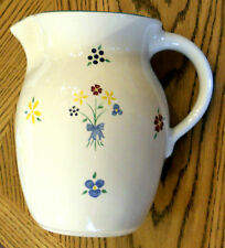 Pfaltzgraff Spectrum Water Pitcher / Beverage Coffee Server Hand Painted Pottery