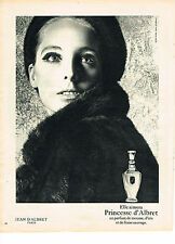 PUBLICITE ADVERTISING  1967   JEAN D'ALBRET  parfum  PRINCESSE