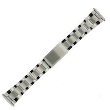 Watch Band Tech Swiss Oyster Link Stainless Steel Metal Mens 18mm