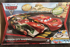 Disney PIXAR Cars 2 London City Raceway Mattel TYCO Slot Car Race Set NEW OPEN