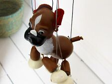 VINTAGE PELHAM PUPPETS - BENGO (Boxer Dog) - BOXED - RARE - instructions too!