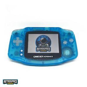 Nintendo Gameboy Advance IPS v2 Blau Durchsichtig Clear Neu